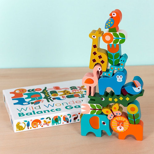 Wooden Animal Balancing Game