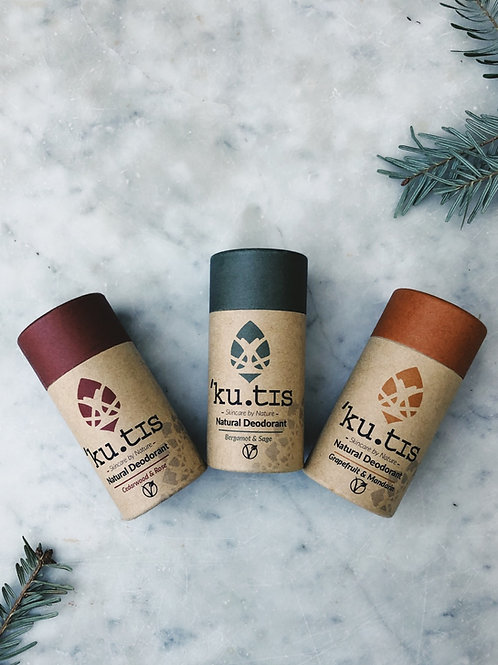 Vegan Deodorant Trio Set