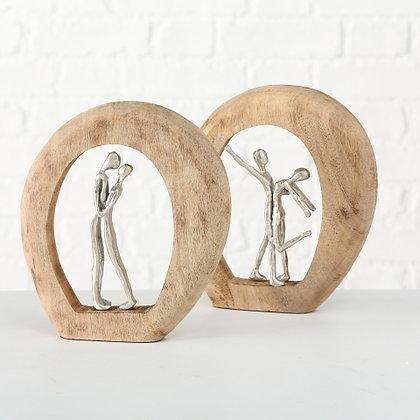 "Holzskulptur "" tanzendes Paar """