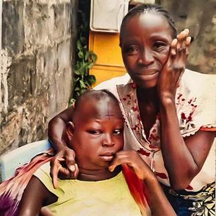 Mother Chantal Oyekol Kibulu & Daughter Pierrette Kibulu