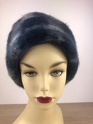 Chapeau en laine - Carreaux Gris Bleu