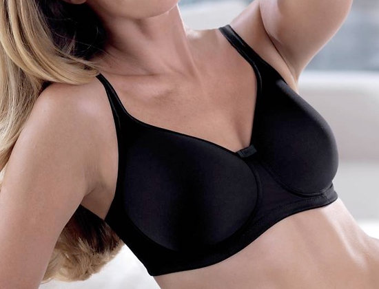 Soutien gorge pour prothèses mammaires Tonya Noir du 105 AA au 110 D