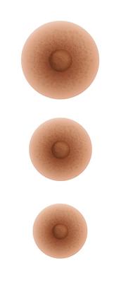 Mamelons adhérents couleur Bronze
