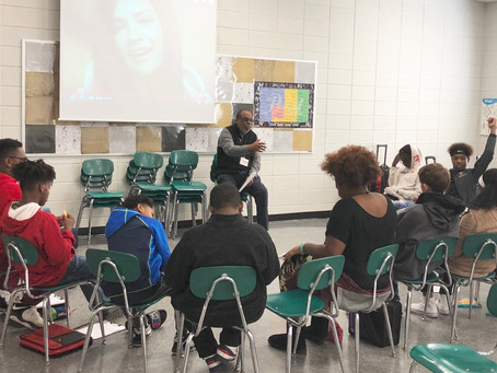 Derrick Robinson continues to lead The Rescue Me Project's School Leadership Program with outstand..