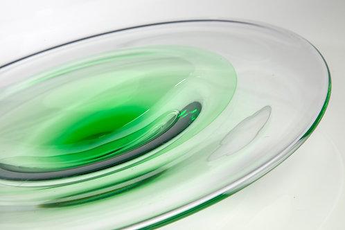 Large Reseda Green Incalmo Plate