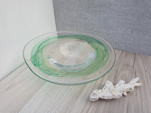 Green Crackle Bowl