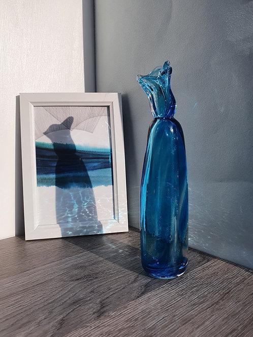 Blue Single Flower Vase