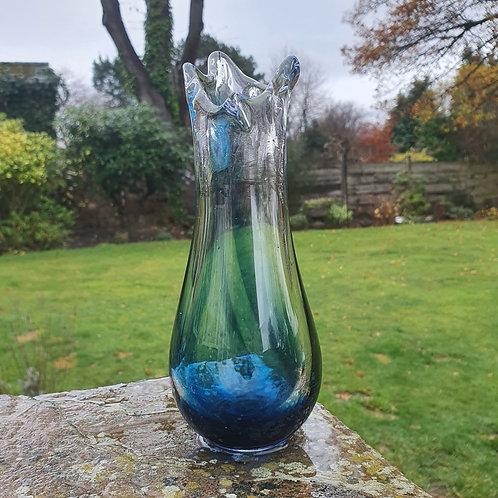 Blue Fluid Vase
