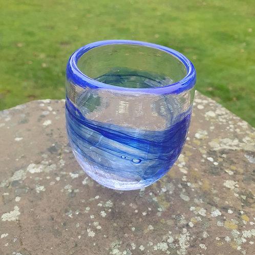 Blue Crackle Cup