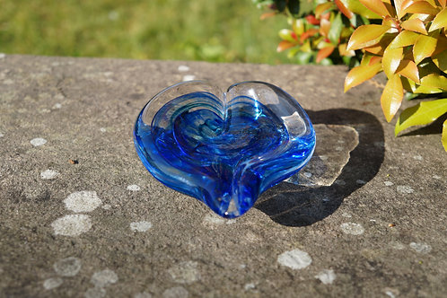 Blue Shallow Jewellery Dish
