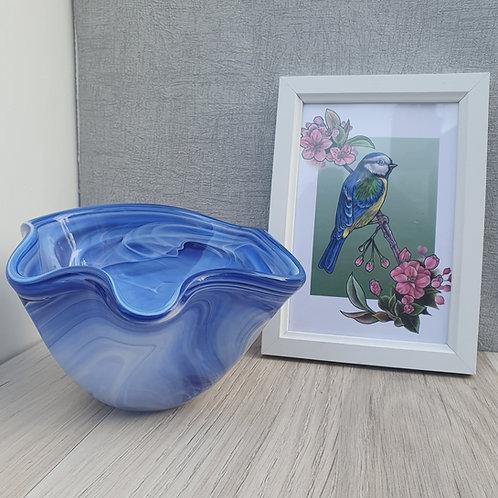 Purple and White wavey bowl