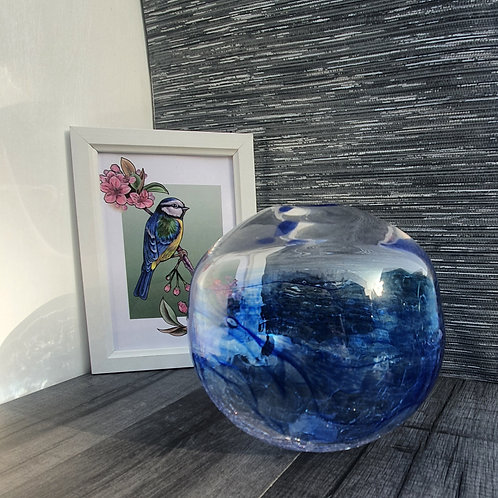 Blue and Crackle Orb