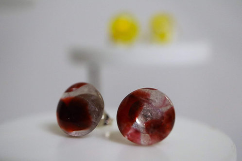 Recycled Glass Sterling Silver Earrings