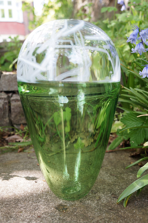 Large Reseda Green Incalmo Vessel