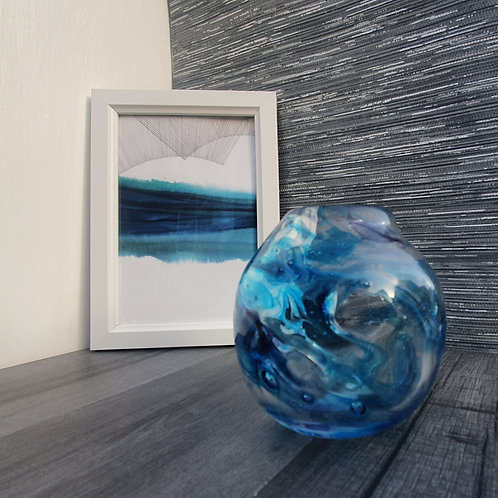 Recycled glass vessel