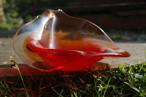Red Fade Sculptural Bowl