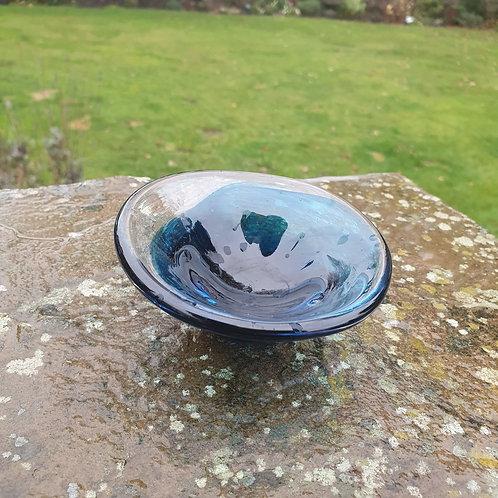 Blue Fluid Trinket Dish