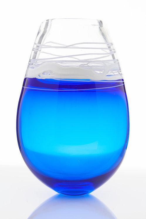 Large Incalmo Sari Blue Vase