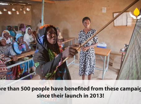 Literacy campaign in Burkina Faso