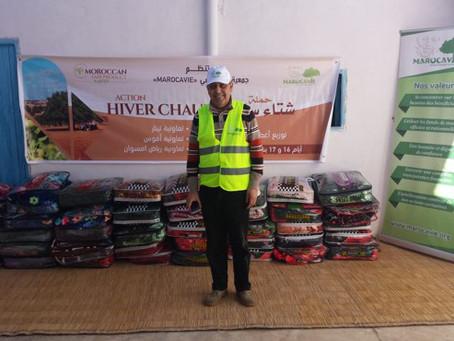 """Marocavie - Distribution des couvertures """"Hiver chaud"""""""