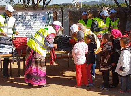 Marocavie - Distribution de cartables et fournitures scolaires