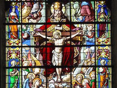 Abbatiale de Fécamp - Restauration du grand vitrail : La Trinité