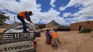 "Marocavie - Distribution of ""solidarity baskets"""