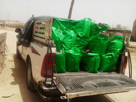 Distribution de denrées alimentaires au Maroc