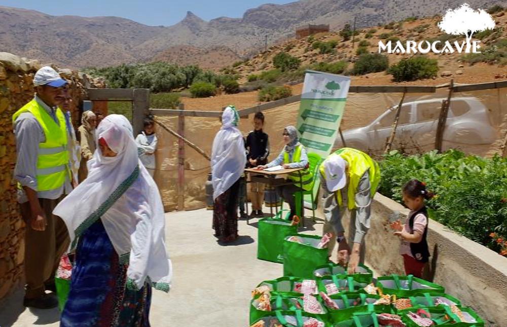Distribution de denrées alimentaires durant le Ramadan 2018 par Marocavie