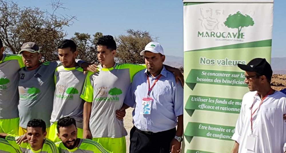 Tournoi de football organisé par Marocavie en août 2018