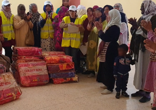"Distribution of blankets : ""Warm winter"" operation"
