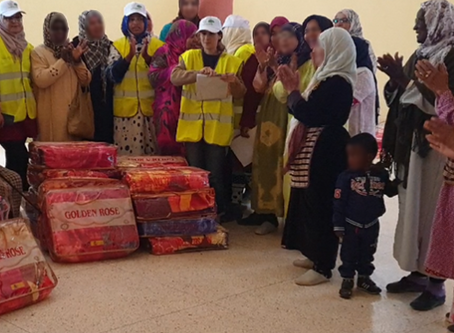 "Marocavie - Distribution of blankets : ""Warm winter"" operation"