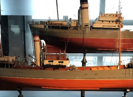 Acquisition of the construction model of the trawler Simon Duhamel, 1919