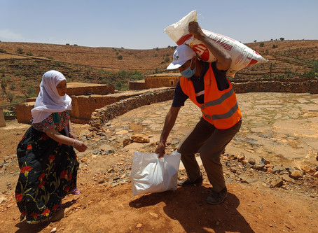 "Marocavie - Distribution of ""solidarity baskets"""