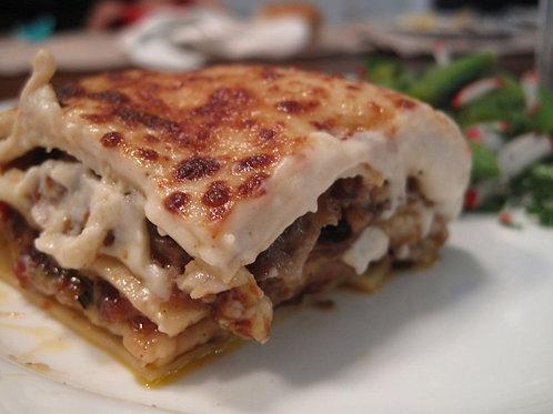 Lasagnes au confit de canard et légumes grillés