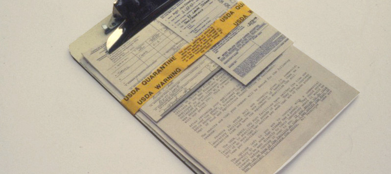 Documentation of Soil Importation Permit from USDA and other paperwork needed for project.
