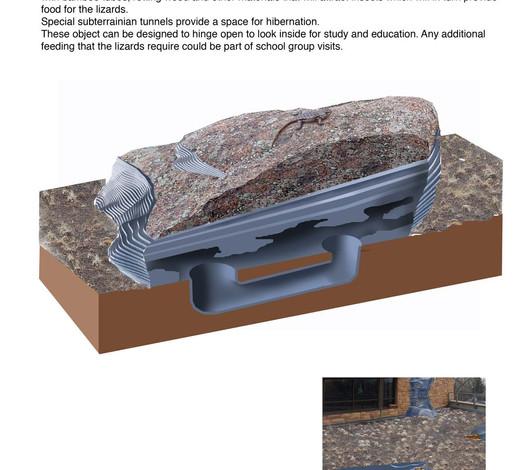 Detail showing lizard habitat.