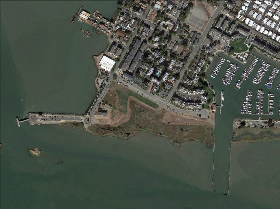 View of downtown Benicia showing waterfront area.