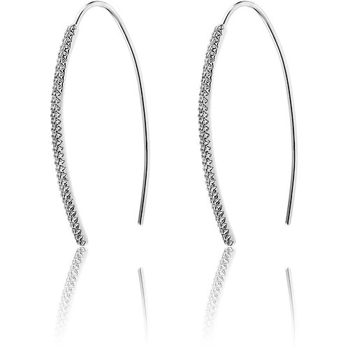 Long wire hook earrings