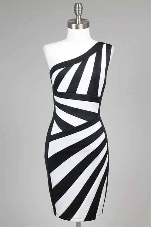 copy of Black & White Mini Dress