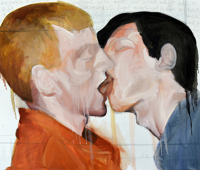 0. A kiss could be the begging of the end_ Mixed media_ 2016.jpg