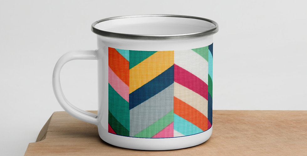 CHEVY ENAMEL MUG BY EMMIE K
