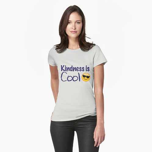 Kindness Is Cool Fitted T-Shirt