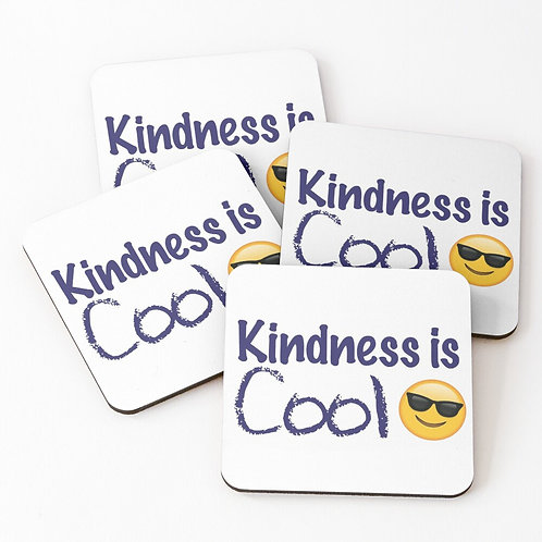 Kindness Is Cool Coasters (Set of 4)
