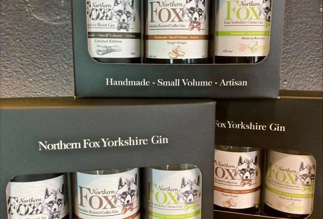 Northern Fox Gin Classic gift set (black)