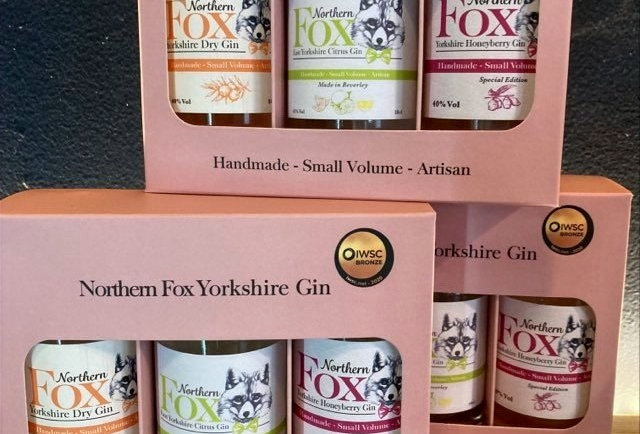 Northern Fox Gin Classic gift set (pink)