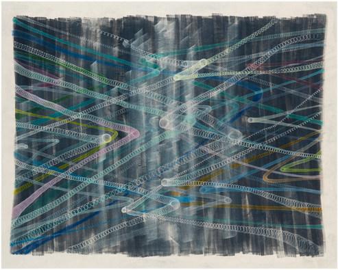 Iceberg/xxx acrylic and ink on canvas 2020