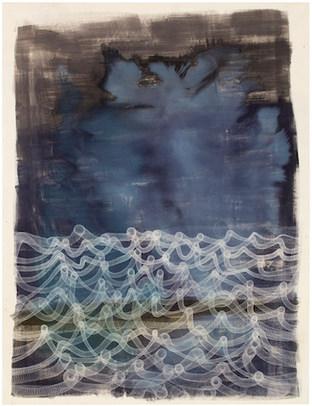 Broken silver 2018  / acrylic, ink on canvas 195 x150 cm
