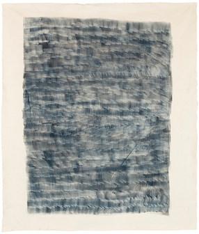 Blue volume II 2018 / acrylic, ink on canvas 230 x 200 cm