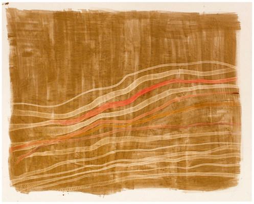 Sandwaves 2018 / acrylic and ink on canvas 160 x 200 cm
